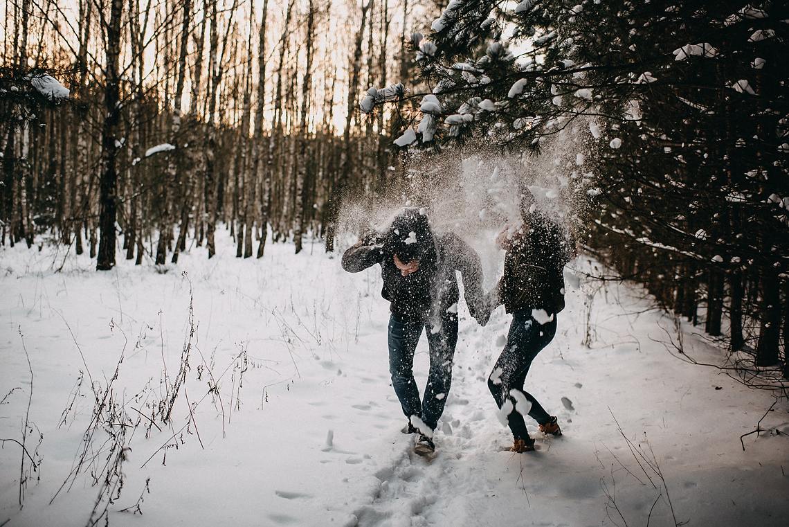 zimowa sesja fotograf Ursus